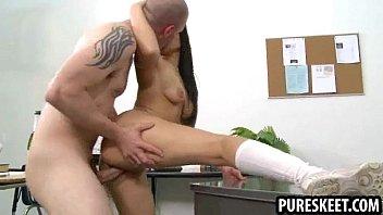 threesome hard gets skinny in fucked babe Stepdad seduces stepson
