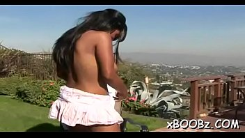 acquires doggystyle breasty blowjob after babe Hairy world star hip hop