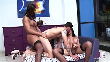and two fist guy to same lucky fuck woman at time gets Vitoria sex with brother
