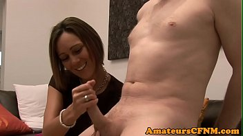 femdom cumeat forced Amanda x slobbered all over his monstrous cock