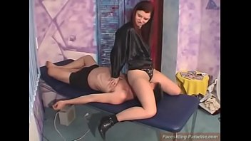 facesitting slip hairy Cute brunette plays with cock for cash