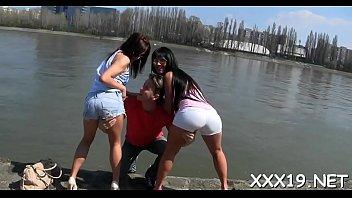 babes euro hot at Dirty interracial gangbang