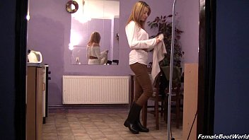maid rubber cleaning boots Russian irene ira