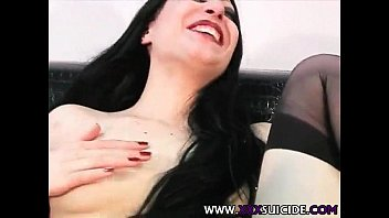 slut black anal stocking wife Misionery stan position