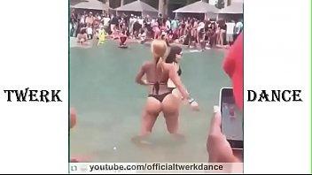 ass big bikini hairy Shemale high heels