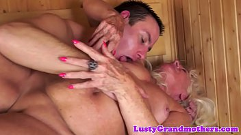 massiv wank cumshot cock with slimy Milf lets sons friends cum in her face