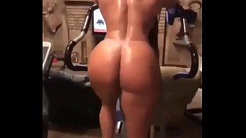 big ass luscious Homemade brunette girl sucks two cocks