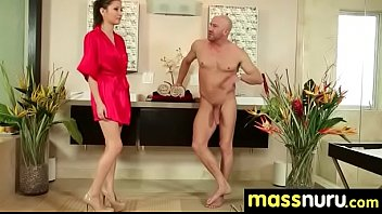 harassed japanese massage Big juggs and expert mouth