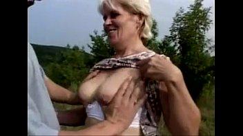 hairy blonde granny Mature woman giving handjob