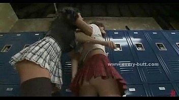 gangbang room hardcore locker Brunette red dildo butt