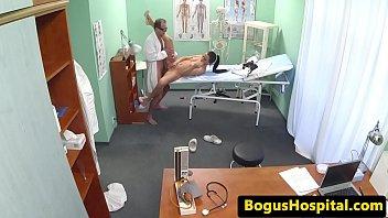 beautiful brunette doctor fucks agent Up ass big breasts