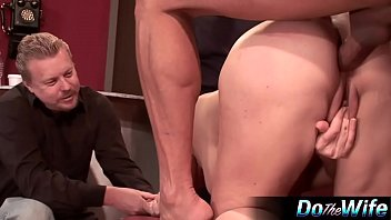 front stripped husband in of wife Holly madison play boy