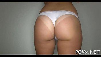 massage using pantyhose cock Female cream ejaculation