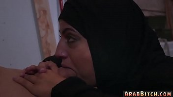 arab street voyeour Blowjob and bang in front of tv set